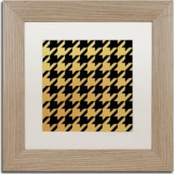 Color Bakery 'Xmas Houndstooth 5' Matted Framed Art - 11