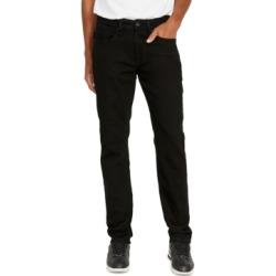 Buffalo David Bitton Men's Evan-x Slim-Straight Fit Stretch Black Jeans