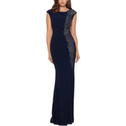 Xscape Petite Embellished-Lace Gown