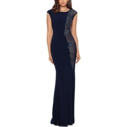 Xscape Embellished A-Line Gown