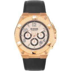 Versus by Versace Men's Chronograph Esteve Black Leather Strap Watch 46mm found on Bargain Bro Philippines from Macy's Australia for $264.61