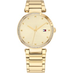 Tommy Hilfiger Women's Gold-Tone Stainless Steel Bracelet Watch 32mm, Created for Macy's found on Bargain Bro Philippines from Macy's for $145.00
