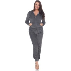 White Mark Fitted Velour 2 Piece Set