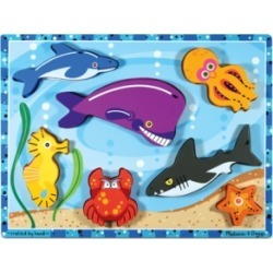 Melissa and Doug Kids Puzzle, Sea Creatures Chunky Puzzle