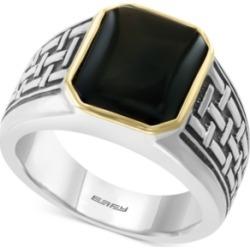 Effy Men's Onyx (13 x 11mm) Ring in Sterling Silver & 14k Gold