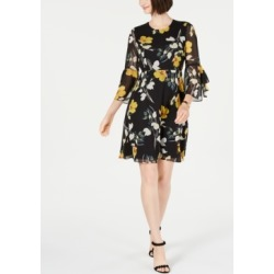 I.n.c. Floral-Print Bell-Sleeve Dress, Created for Macy's found on MODAPINS from Macy's for USD $75.99