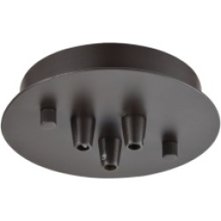 Pendant Options 3 Light Small Round Canopy in Oil Rubbed Bronze