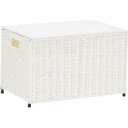 Household Essentials Small Wicker storage Chest, White found on Bargain Bro from Macys CA for USD $76.96