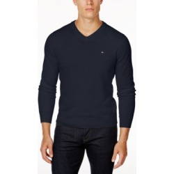 Tommy Hilfiger Men's Signature Solid V-Neck Sweater, Created for Macy's found on MODAPINS from Macy's for USD $49.98