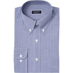 Club Room Men's Classic/Regular Fit Stretch Mini Gingham Dress Shirt, Created for Macy's