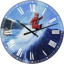 Designart Surfer Joe Large Modern Wall Clock - 36