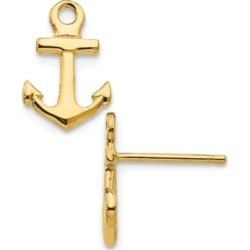 Anchor Stud Earrings in 14k Yellow Gold found on Bargain Bro India from Macy's for $207.50