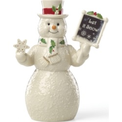 Lenox Let It Snow Snowman Figurine, Created for Macy's found on Bargain Bro India from Macy's for $34.99