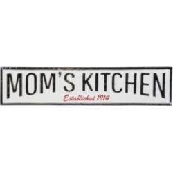 "Vip Home International Metal ""Moms Kitchen"" Sign"
