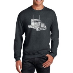 La Pop Art Men's Word Art Keep On Truckin' Crewneck Sweatshirt
