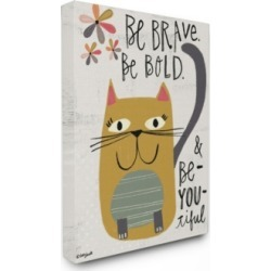 Stupell Industries Be Brave Be Bold Be You Be Beautiful Kitty Canvas Wall Art, 30