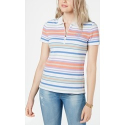 Tommy Hilfiger Multi-Stripe Zip-Up Polo Shirt found on MODAPINS from Macy's for USD $29.99