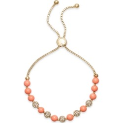 Charter Club Pave & Imitation Pearl Slider Bracelet, Created for Macy's found on Bargain Bro Philippines from Macy's for $18.37