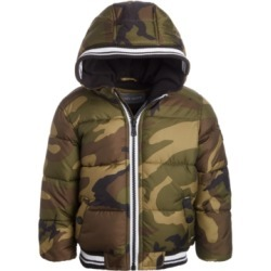 Michael Kors Baby Boys Hooded Camo-Print Puffer Jacket