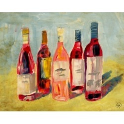 """Creative Gallery Rose Wines Colorful Abstract Portrait Metal Wall Art Print - 24"""" x 36"""""""