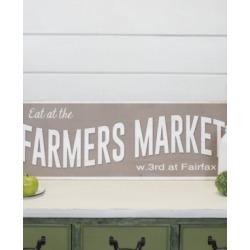 "Vip Home International Wood ""Farmers Market"" Sign"