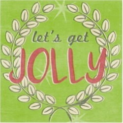 June Erica Vess Lets Get Jolly I Canvas Art - 15