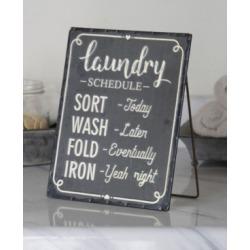 "Vip Home International Rectangular Metal ""Laundry"" Sign"