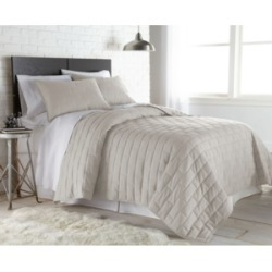 Southshore Fine Linens Oversized Brickyard Embroidered Quilt and Sham Set, King/California King Bedding