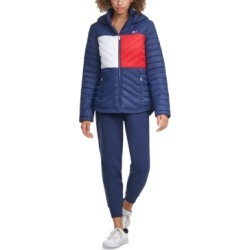 Tommy Hilfiger Sport Colorblocked Puffer Jacket found on Bargain Bro from Macy's for USD $49.21