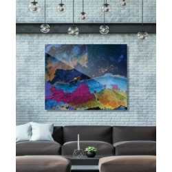 "Creative Gallery Splash Coast in Blue Abstract 24"" x 36"" Acrylic Wall Art Print"
