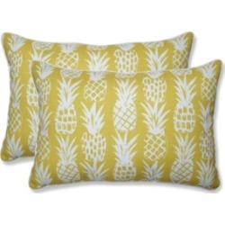 Pillow Perfect Pineapple Over-Sized Rectangular Throw Pillow, Set of 2