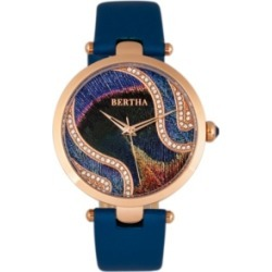 Bertha Quartz Trisha Collection Blue Leather Watch 39Mm found on Bargain Bro Philippines from Macy's for $150.00