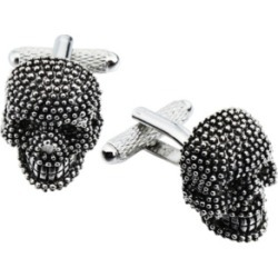Sutton Antiqued Silver-Tone Skull Cufflinks found on MODAPINS from Macy's for USD $68.00