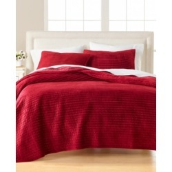 Martha Stewart Collection Velvet Channel Stitch Twin Quilt, Created For Macy's
