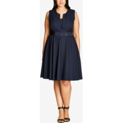 City Chic Trendy Plus Size Pleated A-Line Dress