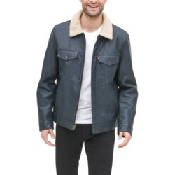 Levi's Men's Faux-Leather Trucker Jacket found on MODAPINS from Macy's for USD $225.00