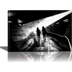 Eurographics Walking Towards the Light Framed Canvas Wall Art