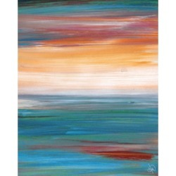 """Creative Gallery Late Afternoon Hazy Abstract 36"""" x 24"""" Canvas Wall Art Print"""