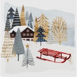 "Victoria Borges Christmas Chalet Ii Canvas Art - 15"" x 20"""