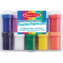 Melissa and Doug Kids Toy, Deluxe 10-Color Poster Paint Set
