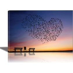 Eurographics Love is in the Air Framed Canvas Wall Art