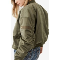 Women's Satin Bomber Jacket found on MODAPINS from Macy's for USD $199.00