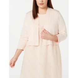 Calvin Klein Plus Size Open-Front Cardigan found on Bargain Bro India from Macy's for $39.99