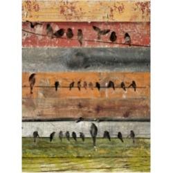 Irena Orlov Birds on Wood I Canvas Art - 20