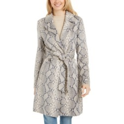 Tahari Snake-Embossed Trench Coat found on MODAPINS from Macy's Australia for USD $117.27
