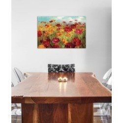 "iCanvas ""Cosmos in the Field"" by Danhui Nai Gallery-Wrapped Canvas Print (26 x 40 x 0.75)"
