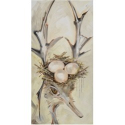 Stephanie Aguila Ostrich with Antlers Canvas Art - 36.5
