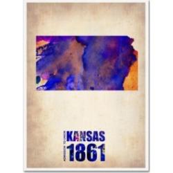 Naxart 'Kansas Watercolor Map' Canvas Art - 24