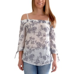 Bcx Juniors' Floral-Print Cold-Shoulder Top found on Bargain Bro from Macy's for USD $29.64
