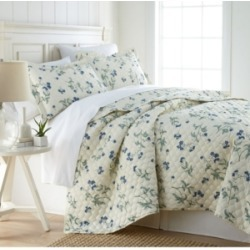 Southshore Fine Linens Forget Me Not Quilt and Sham Set, King/California King Bedding